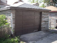 Our garage, from the alley
